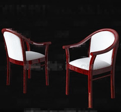 Link toWhite red wooden chair 3d model