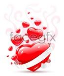 Link toWhite ribbon heart vector