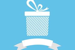 Link toWhite ribbons and gift box vector