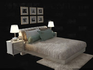 Link toWhite simple and comfortable double bed 3d model