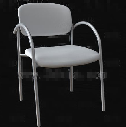Link toWhite simple and fashionable office chair 3d model