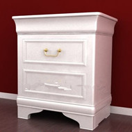 Link toWhite simple european-style bedside cabinet 3d model