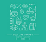 Link toWhite summer icons vector