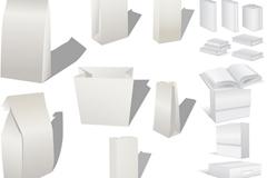 White tray book design vector