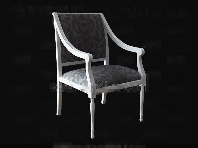 Link toWhite wooden fabric chair 3d model