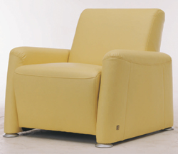Link toWidened soft yellow fabric sofa single 3d model (including materials)