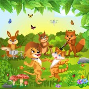 Link toWild animal and natural scenery design vector set 03 free