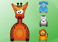 Link toWild animals cartoons vector free