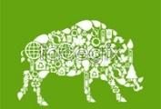 Link toWild boar image of green tiles vector graphics