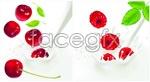 Link toWild strawberries and cherries vector