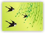 Link toWillow spring swallows vector
