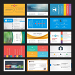 Link toWin10-style business cards vector