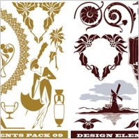 Link toWindmills kangaroos ducks and other silhouette pattern vector