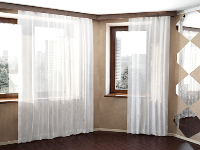 Link toWindows with white curtains 3d model