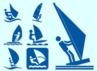 Link toWindsurfers icons vector free