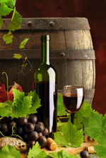 Link toWine and wine barrels psd