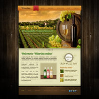 Link toWinerista - winery website psd template design