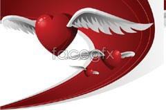 Link tovector heart-shaped Winged