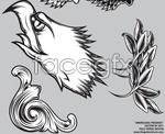 Link toWings of eagles head pattern vector