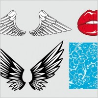 Link toWings of the mouth pattern vector