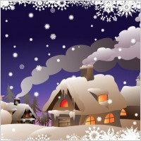 Link toWinter christmas vector illustration
