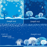 Link toWinter night vector