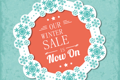 Link toWinter sales snowflake label background vector