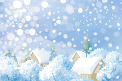 Link toWinter town vector illustration