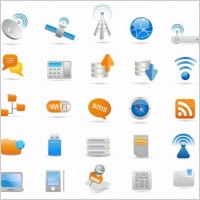 Link toWireless and communication icon set