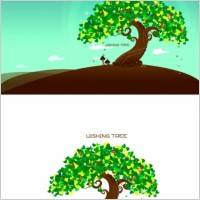 Link toWishing tree vector