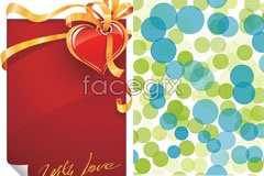 Link toWith a fashion background and heart-shaped greetings eps vector