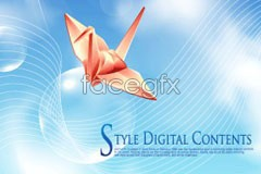 Link tovector backgrounds fantasy and cranes origami of blessings With