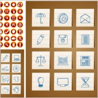 Link toWith handpainted circular icon vector