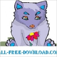 Link toWolf cub with flower
