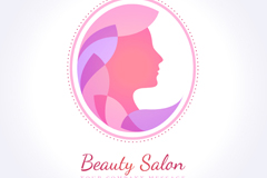 Link toWoman faces beauty salon logo vector