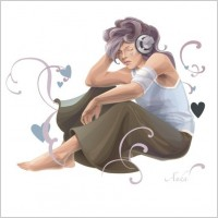 Link toWoman listening to music