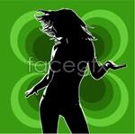 Link toWoman silhouette vector