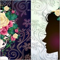 Link toWoman with flowers vector 1