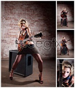 Link toWoman with guitar psd