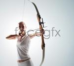Link toWomen's archery athletes psd