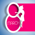 Link toWomen's day paper-cut background vector