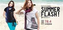 Link toWomen t-shirt promotional advertising psd