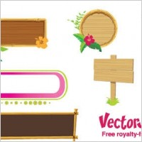 Link toWood banners and frames free vector