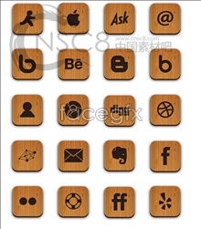 Wood corner desktop icons