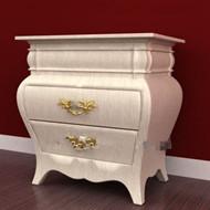 Link toWood exquisite curved bedside cabinet 3d model