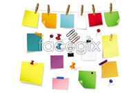 Link toWood grip pushpin note vector collection