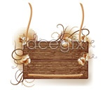 Wood picture frame border vector