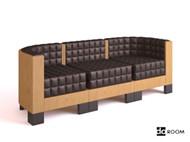 Link toWood sense plaid three seats sofa 3d model