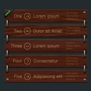 Link toWooden blinds vector
