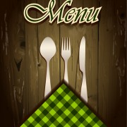 Link toWooden board background menu cover vector 02 free
